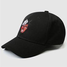 成人棒球帽男女人頭刺繡彎檐棒球帽遮陽時尚百搭休閑炫酷鴨舌帽