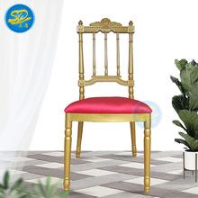批發新款歐式復古餐椅 金屬拿破侖酒店椅子古堡皇冠竹節靠背椅