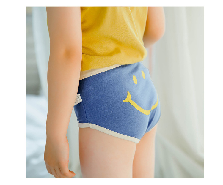Children's underwear wholesale triangle underwear boys and girls boxer smile panties cotton boxer shorts NHER206440
