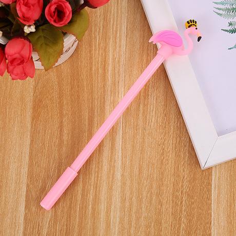 Hồng hạc cartoon gel bút văn phòng phẩm sáng tạo học tâm Thái Swan bút gel bút cute girl của