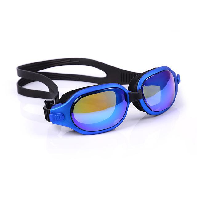 大框电镀喷油1820 防雾防水潜水镜游泳眼镜带自动调节扣游泳镜