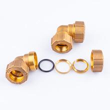 管件铜接头直通三通弯头四通紫铜卡套管件铝塑管件铜制品厂家批发