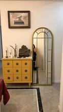 美式复古做旧铁艺壁挂镜框落地试衣镜全身镜穿衣镜墙面装饰镜