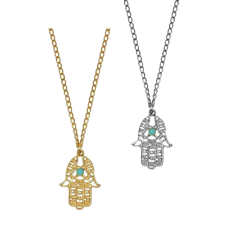 Womens Palm Plating Alloy Necklaces NHHN147884