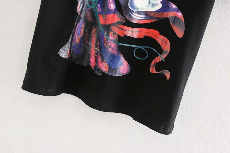 Wholesale winter cartoon printed women's T-shirt top NHAM186155