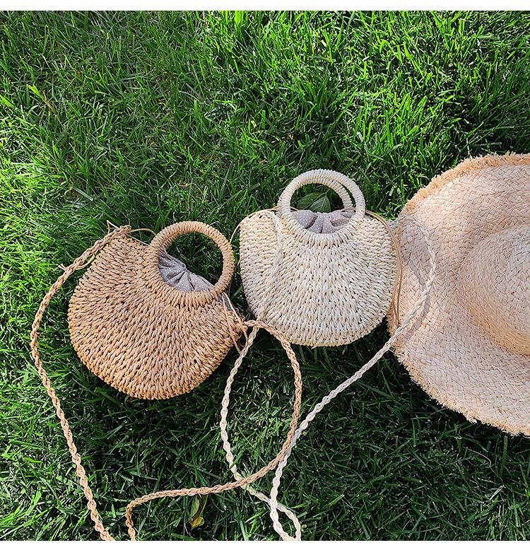 Messenger bag woven handbag summer new wild one-shoulder beach bag handmade straw bag NHGA200655