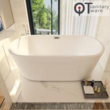 佛山廠家直銷 1.2~1.7米家用橢圓亞克力浴缸酒店工程浴缸QT-002