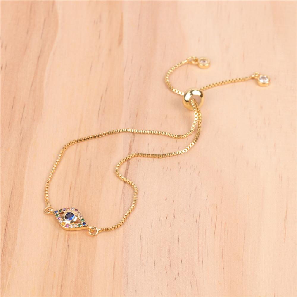 New Fashion Palm Point Diamond Fatima Hand Devil's Eye Micro Inlaid Zircon Bracelet NHPY196229