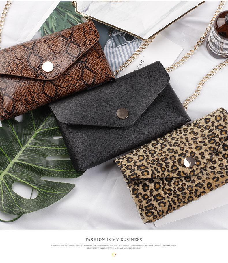New fashion snake pattern belt bag ladies casual wear with diagonal chain belt nihaojewelry wholesale NHDM214882