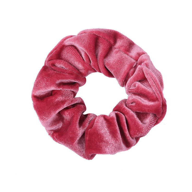 Korean velvet gold velvet large intestine hair ring head flower wholesale NHOF196028