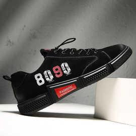 鞋子男百搭潮鞋夏季透气帆布鞋中帮板鞋8090休闲鞋男生厚底运动鞋
