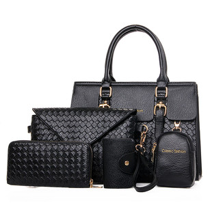 2020 new Korean style trendy one-shoulder messenger handbags fashion temperament all-match five-piece portable big bag picture and mother bag