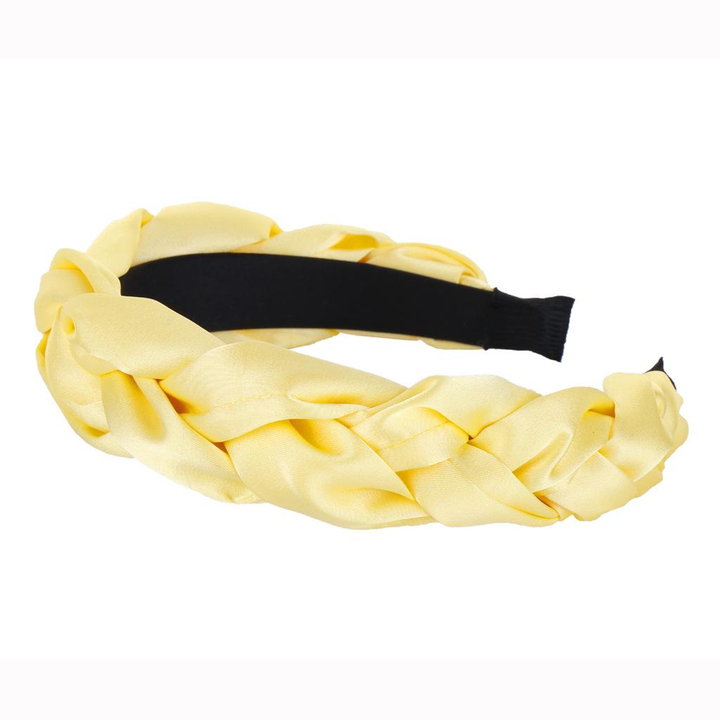 New solid color satin twist braid headband NHHV146894