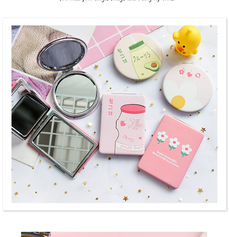 Creative makeup mirror with folding mirror NHHE150458