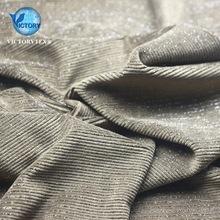 银丝抽条天鹅绒面料涤氨纶灯芯绒银葱银丝横抽条仿棉绒天鹅绒布料