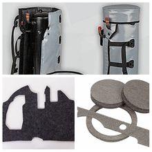 隔熱吸音機械設備無紡毛氈 空調壓縮機豆漿機隔音棉 阻燃降噪纖維