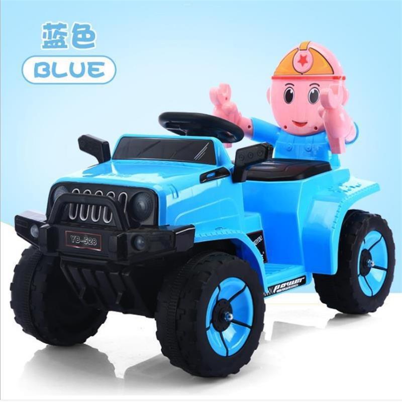 儿童卡通电动汽车 四轮可充电骑行电动车 ?#20449;?#23453;宝玩具车一件代