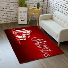 家用圣誕地毯客廳防滑地墊地毯臥室床邊法萊絨可機洗腳墊跨境批發