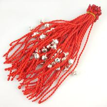 年年有鱼红绳手链 小礼品红绳编织仿玉仿桃木淘宝小礼物厂家批发