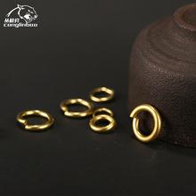 黄铜钥匙圈钥匙扣实用黄铜开口圈环DIY手工配件2*10多种尺寸规格