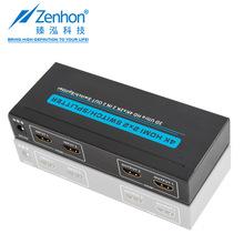 廠家直銷 HDMI二進二出切換/分配器 支持4K高清視頻 HDCP1.4
