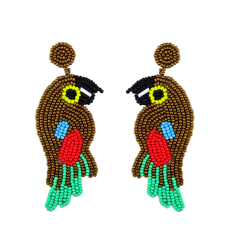 Amazon Vende Creative Mi Bead Earrings Europa y América Bohemia Personalidad Animal Bird Earring Earrings22 NHAS195363