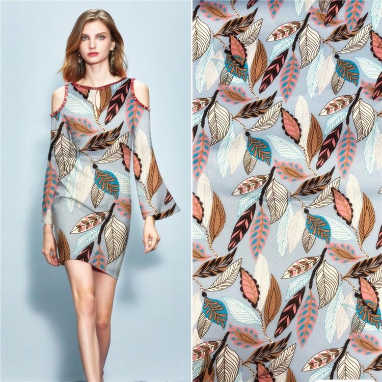 弹力米奇 几何印花 女装连衣裙外套面料 涤纶印花底布厂家