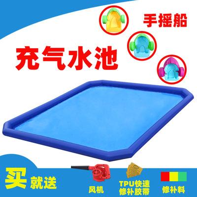大型游泳池厂家批发定制pvc夹网布可折叠移动儿童游戏充气水池