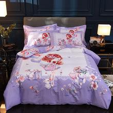廠家直銷新款純棉13372大版印花床上用品四件套床單被套禮品套件
