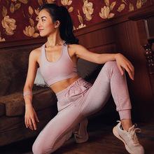 Bộ đồ yoga 2019 nữ mùa hè mới tập thể dục yoga quần áo phụ nữ phù hợp với chạy thể thao và giải trí hai mảnh bán buôn Bộ đồ thể thao nữ