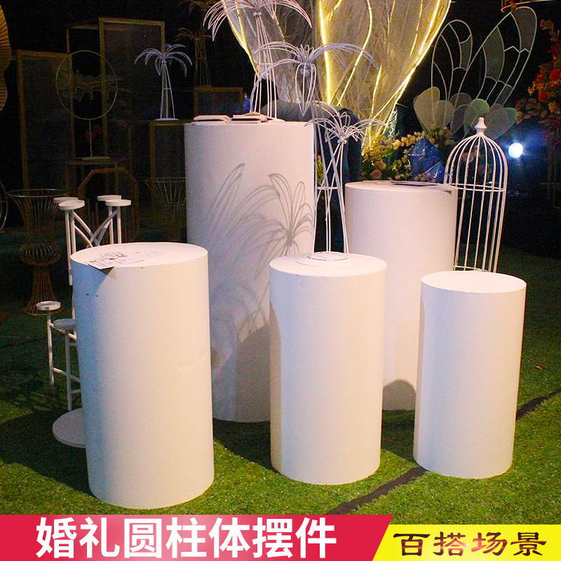 Wedding props, wrought iron cylindrical...