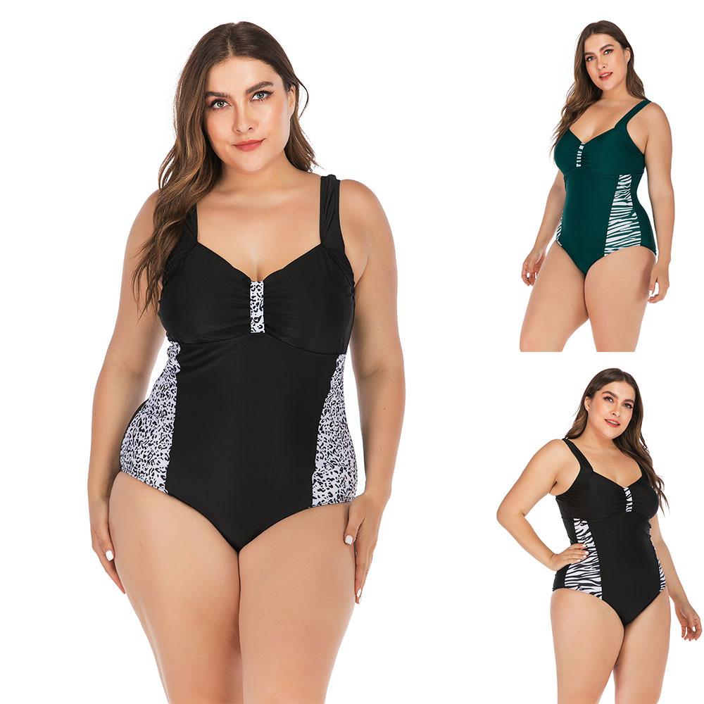 2020新款连体大码泳装bikini 欧美性感比基尼女士泳衣现货批发