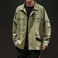 青少年日系大码工装外套男士秋季2019新款韩版潮流夹克上衣正品