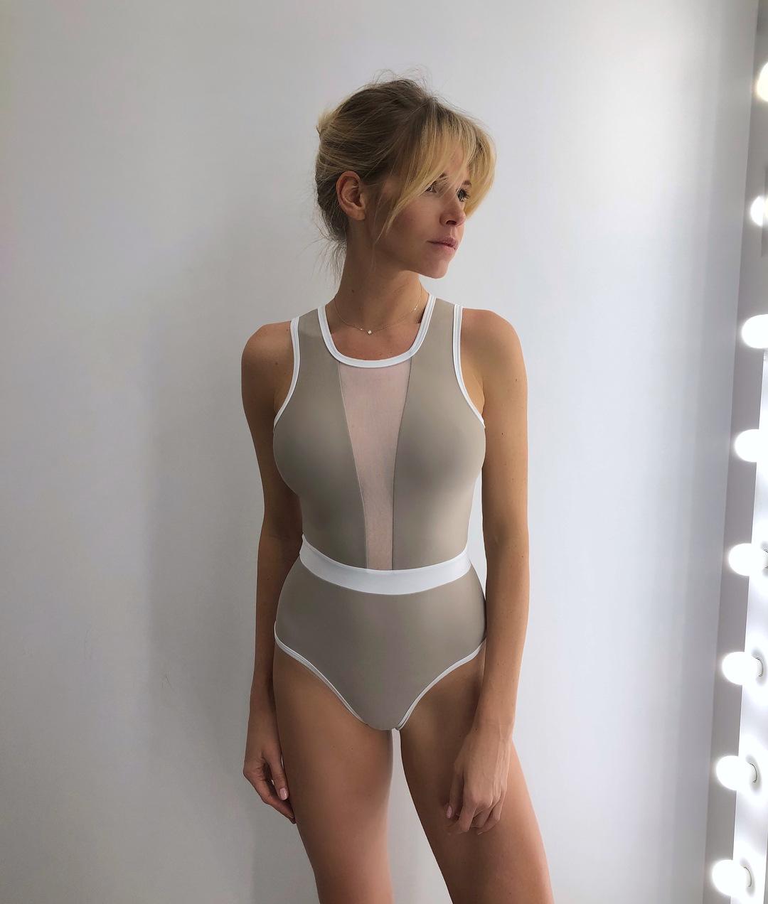 New Tulle Stitching Bikini One-Piece Swimsuit NSDA2531