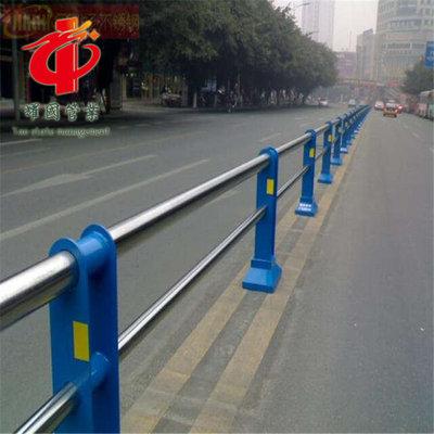 现货供应市政工程不锈钢交通道路护栏定制城市道路钢管隔离护栏