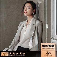 L9313韓國設計師品牌女裝純色精品歐貨珍珠扣西裝外套精品小西服