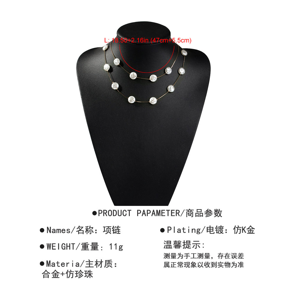 Womens Other Alloys   Imitation Beads Necklaces NHMD120829