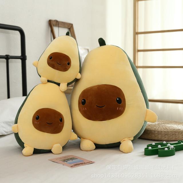 厂家直销创意新款牛油果毛绒玩具公仔水果抱枕一件代发批发定制