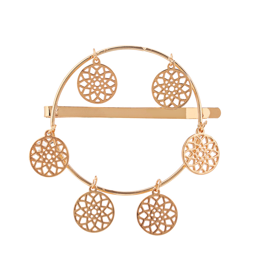 Geometric alloy hollowed out clip dream catcher hair accessories NHHN154611