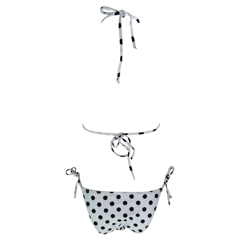 New hot sale ladies split retro polka dot bikini swimsuit NHHL197631