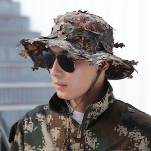 2021 summer sun hat jungle leaf camouflage baseball cap camouflage fishing outdoor anti-terrorism camouflage sniper cap