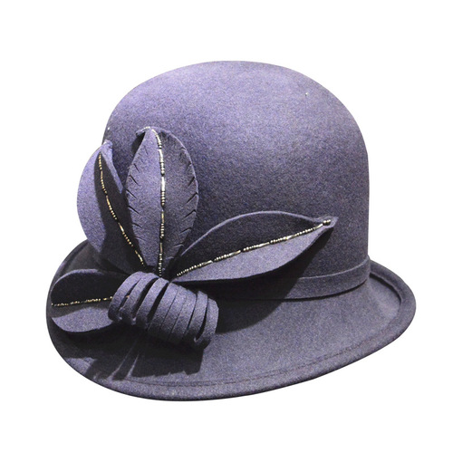 Party hats Fedoras hats for women Hat brim round head woolen hat felt hat