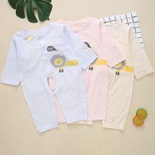 新款宝宝夏季婴儿连体衣新生儿爬服薄外出服空调服和服一件代发