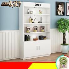 小型展架透明容量多功能櫥窗陳列柜展示架可拆n人造板貨物物品置