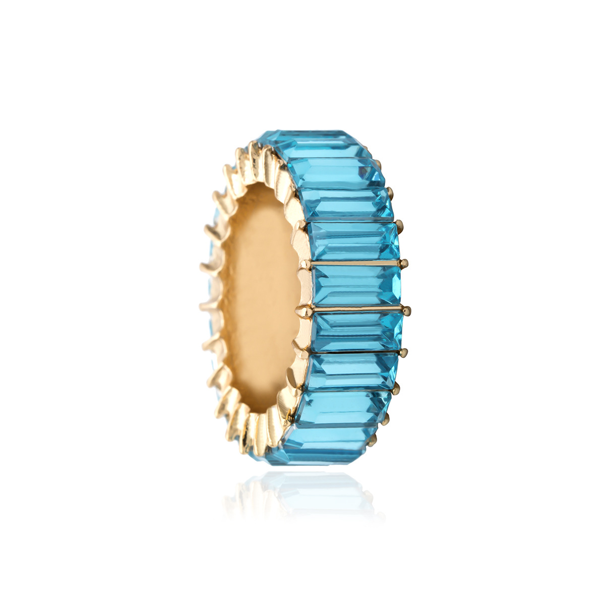 Simple color wild square zircon ring NHXR136076