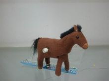 仿真上链毛绒小马 发条卡通跳跳马 儿童益智玩具小礼品地摊货源