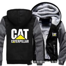 欧码大码 CAT潮牌 休闲装厚款男士男款保暖棉服卫衣外套 棒球服