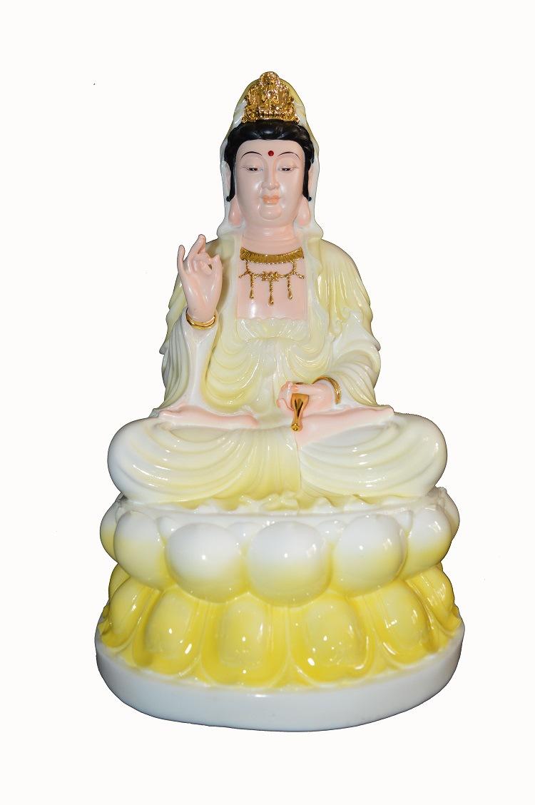 梵缘佛像厂家批发 汉白玉观音菩萨佛像 树脂观菩萨佛像摆件供奉