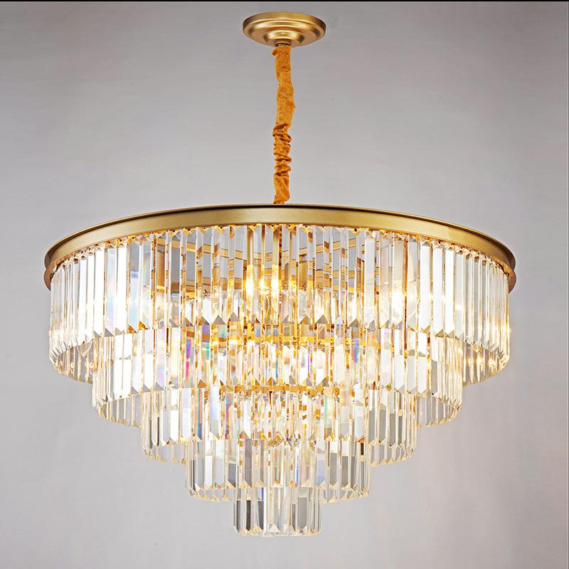 后现代轻奢水晶吊灯欧式奢华大气客厅灯美式现代简约餐厅卧室灯具