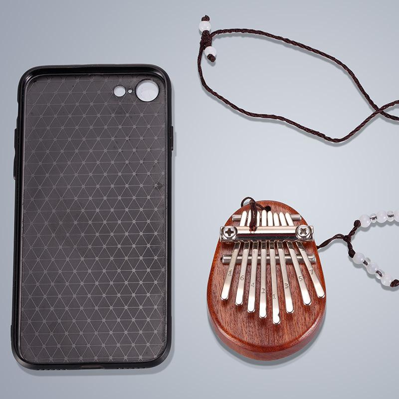 鲁儒卡林巴琴 迷你8音拇指琴水晶透明 巴林琴初学者弹拨乐器